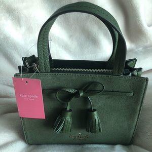 Olive Green Suede Handbag